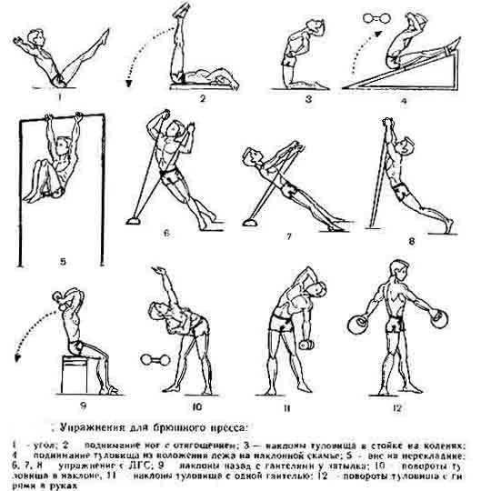 Упражнения в домашних условиях для мышц живота