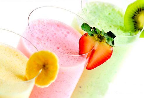Как сделать фруктовые коктейли